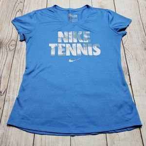 Nike dri-fit tennis t-shirt blue size small